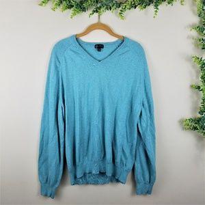 J. Crew light blue v neck sweater